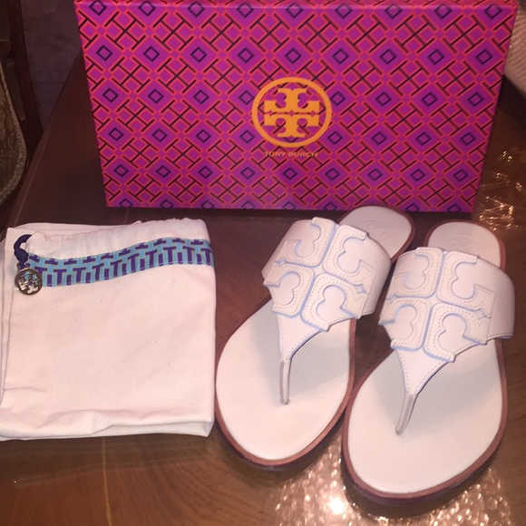 2074eeeff216c WORN ONCE! Tory Burch Jamie Sandal-100% Authentic.  M 5b32f4f06197456e19107d4a